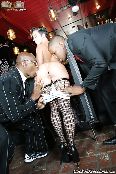 Hot bar maid in shorts gets..