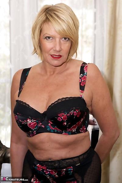 Older blonde woman..
