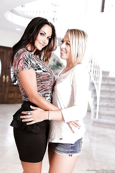 Lesbians Ava Addams & Zoey..