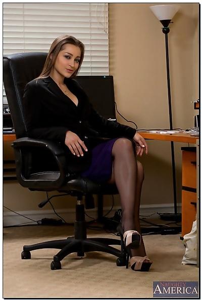 Foxy office babe Dani..