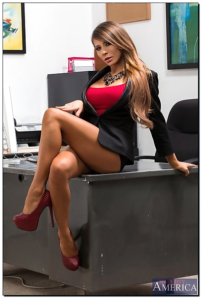 Gorgeous office babe Madison..