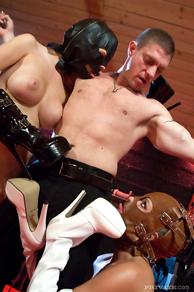 Hot blondes lap up sperm in..