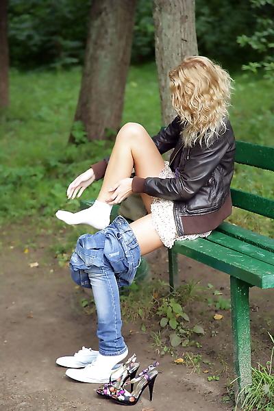 Cute teen with blonde hair..