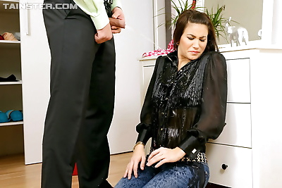 Hardcore slut gets soaked in..