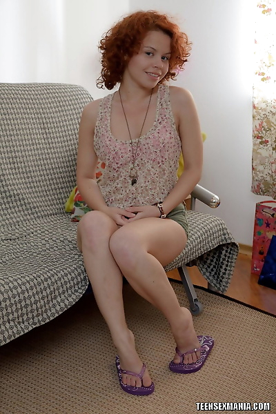 Young redhead with a hairy..