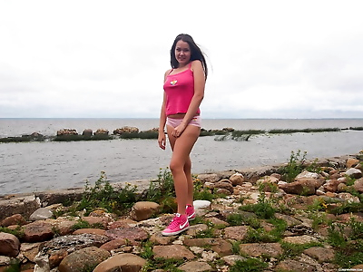 Horny teen girl Malyshka Che..